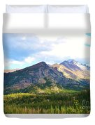 Meadow And Mountains Duvet Cover by Kathleen Struckle