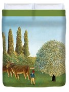 Meadowland. The Pasture  Duvet Cover