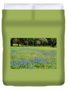 Meadows Of Blue And Yellow. Texas Wildflowers Duvet Cover
