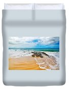 Meandering Waves On Tropical Beach Duvet Cover
