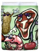 Meats Protein Food Group Duvet Cover
