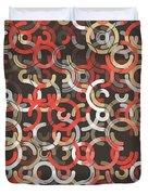Mechanic Geometric Circle Segment Pattern Duvet Cover