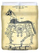 Mechanical Horse Patent Drawing From 1893 - Vintage Duvet Cover