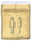 Mechanical Man Patent Duvet Cover