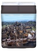 Med Village Duvet Cover by Dominic Davison