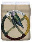 Medicine Wheel Duvet Cover by J W Baker