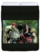 Medieval Barbarian Couple Duvet Cover