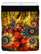 Medieval Ceremonial-fractal Art Duvet Cover