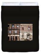 Medieval Houses In Albi France Duvet Cover