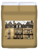 Medieval Houses In Vannes Duvet Cover by Elena Elisseeva