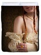 Medieval Tudor Woman Duvet Cover