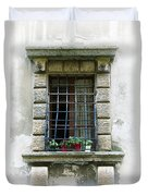 Medieval Window With Iron Grilles Duvet Cover