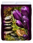 Meditating Tulips Duvet Cover