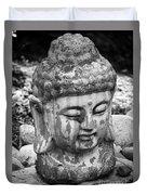 Meditation Bw Duvet Cover