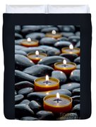 Meditation Candles Duvet Cover