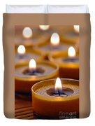 Meditation Candles Path Duvet Cover