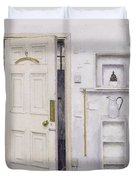 Meditation On A Door I Duvet Cover by Charles E Hardaker