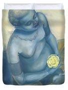 Meditation With Flower Duvet Cover by Judith Grzimek