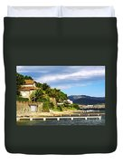 Mediterranean Coast Of French Riviera Duvet Cover