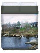 Medomak River, Waldoboro,maine Duvet Cover