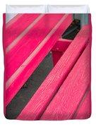 Wimberley Texas Market Red Bench Duvet Cover