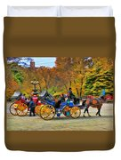 Meeting Of The Carriages Duvet Cover