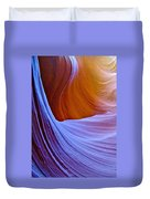 Meeting Of The Curves In Lower Antelope Canyon In Lake Powell Navajo Tribal Park-arizona  Duvet Cover