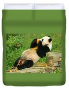 Mei Xiang Chowing On Frozen Treat Duvet Cover