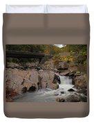 Meigs Falls In Autumn Duvet Cover