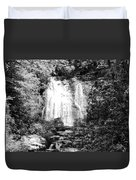 Meigs Falls Smoky Mountains Bw Duvet Cover