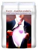 Mel Bossa's Red Awakening Book Cover Art Duvet Cover