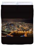 Melbourne At Night Vi Duvet Cover