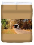 Melcher Covered Bridge Parke Co In Usa Duvet Cover