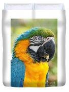 Mele E Manono Ia Ea Macao Tropical Birds Of Hawaii Duvet Cover