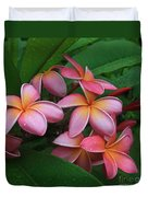 Melia Hae Hawaii Pink Tropical Plumeria Keanae Duvet Cover