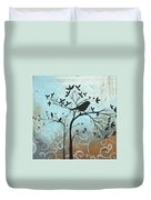 Melodic Dreams By Madart Duvet Cover