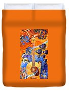 Melodies And Sunset Seas Duvet Cover