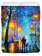 Melody Of The Night - Palette Knife Landscape Oil Painting On Canvas By Leonid Afremov Duvet Cover