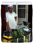 Melon Seller Old Medina Fez Morocco Duvet Cover