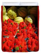 Melons And Strawberries Duvet Cover