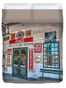Mel's Filling Station Duvet Cover