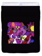 Melted Rubiks Cube 2 Duvet Cover