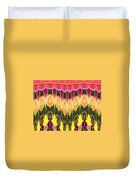 Melting Lily And Chrysanthemums Abstract Duvet Cover