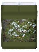 Melting Snow In The Pines Duvet Cover