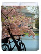 Memorial Bicycle Duvet Cover