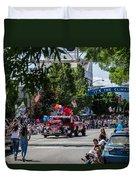 Memorial Day Parade In Grants Pass Duvet Cover