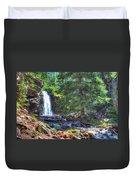 Memorial Falls Logjam Duvet Cover