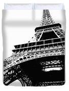 Eiffel Tower Silhouette Duvet Cover