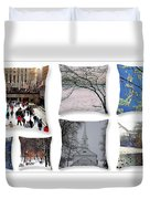 Memories Of Winter - A Collage Duvet Cover