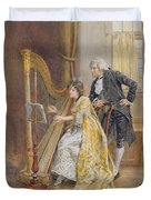 Memorys Melody Duvet Cover by George Goodwin Kilburne